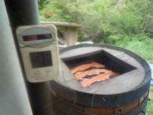 スモーカーと温度計