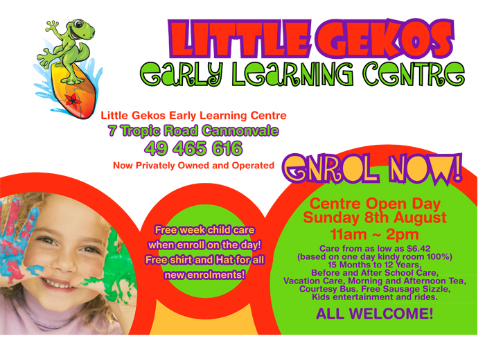 Childcare Flyer Yui Kimura - daycare flyer