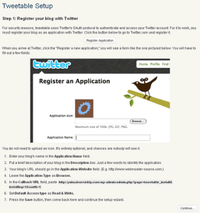 Tweetable インストール画面1