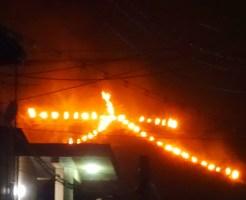 2016年8月16日、五山の送り火、左大文字
