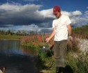 YBC member Devon Yacura conducted an assessment of pharmaceutical and personal care products (PPCPs) – a first for Yukon wastewater treatment plants. He sampled water, sludge, aquatic invertebrates and algae to find out what chemicals were present, when they were present, and how they were absorbed into the environment.