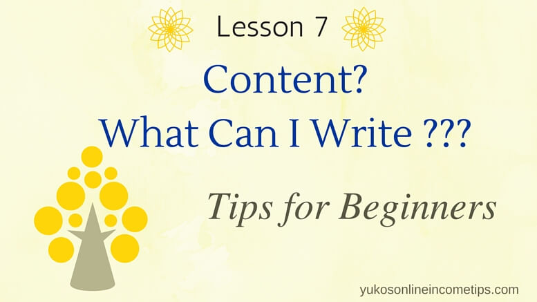 What to Write for My Website - Tips for Content Writing - what to write