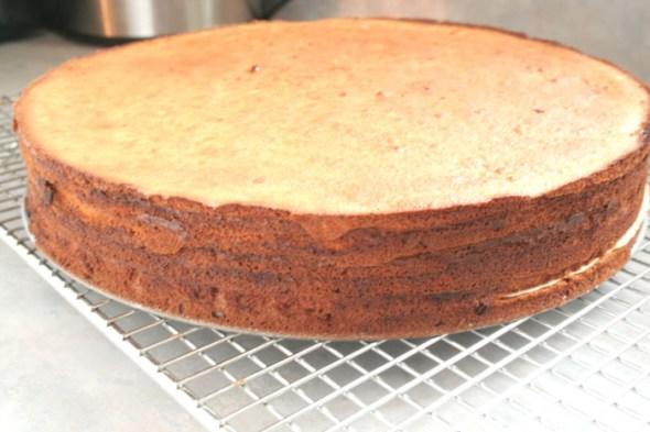 Baumkuchen Baked cake with darker Edges