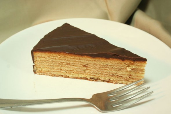 Finished Baumkuchen Slice