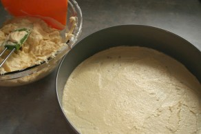 Baumkuchen Batter Spread for Layer #1