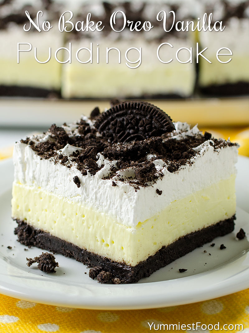No Bake Oreo Kuchen No Bake Oreo Vanilla Pudding Cake Recipe