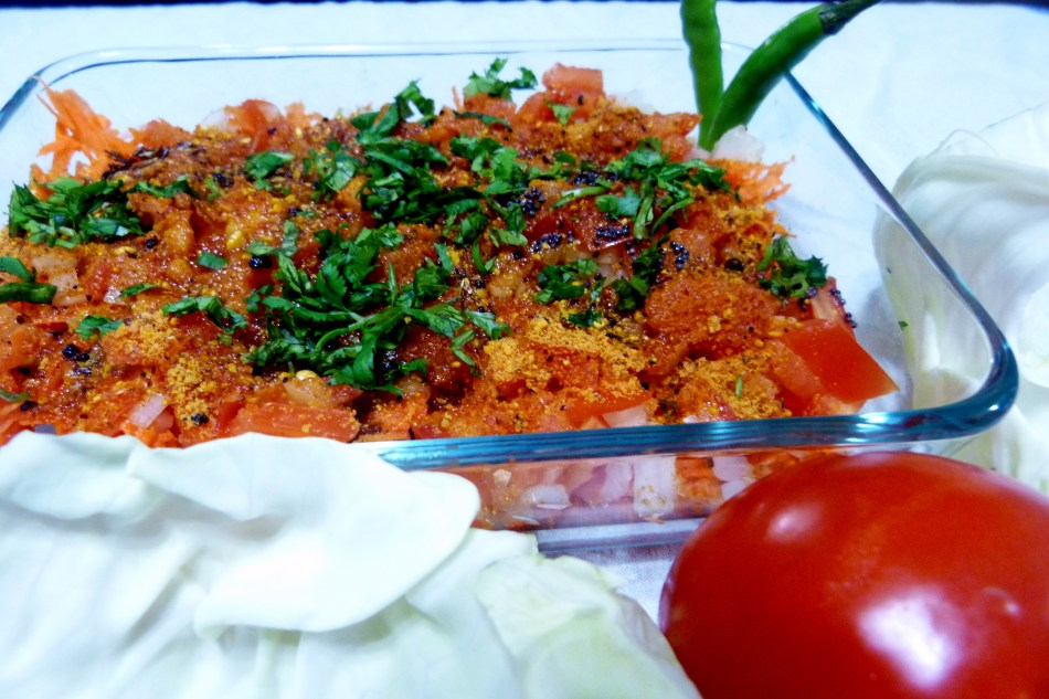 CARROT SALAD WITH PEANUT DRESSING