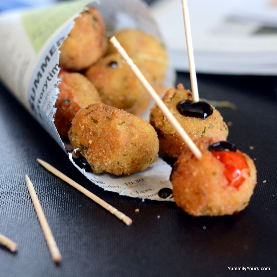 STUFFED TOMATO CHEESE BALLS – DECONSTRUCTING CAPRESE
