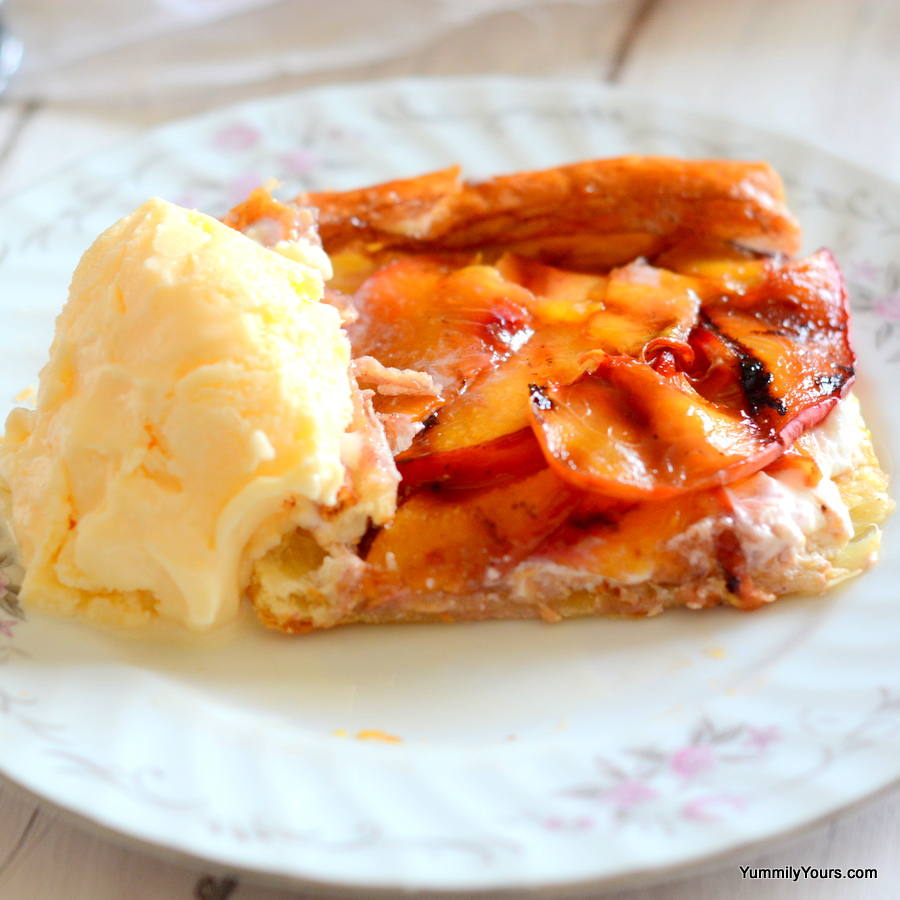 GRILLED PEACH TART | EASY FRUIT PASTRY