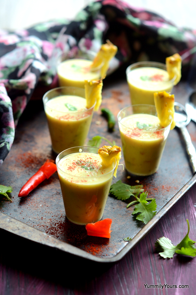 CHILLED PINEAPPLE SOUP SHOTS