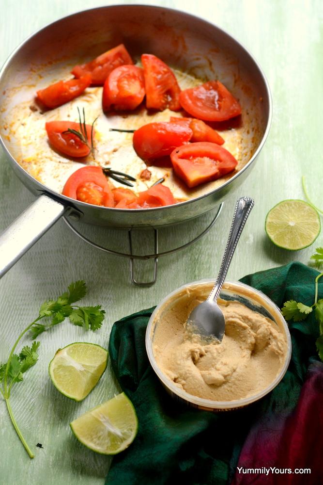 Hummus soup with wild rice