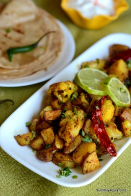 Aloo gobi, A very popular Indian curry made from start o finish in just 15 minutes!