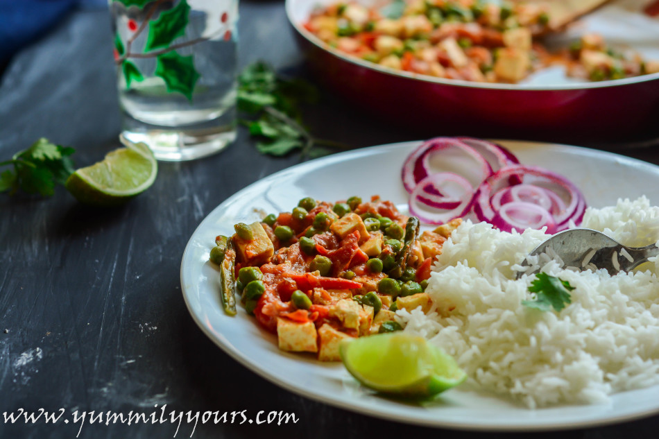 MATAR PANEER | CURRY IN A HURRY