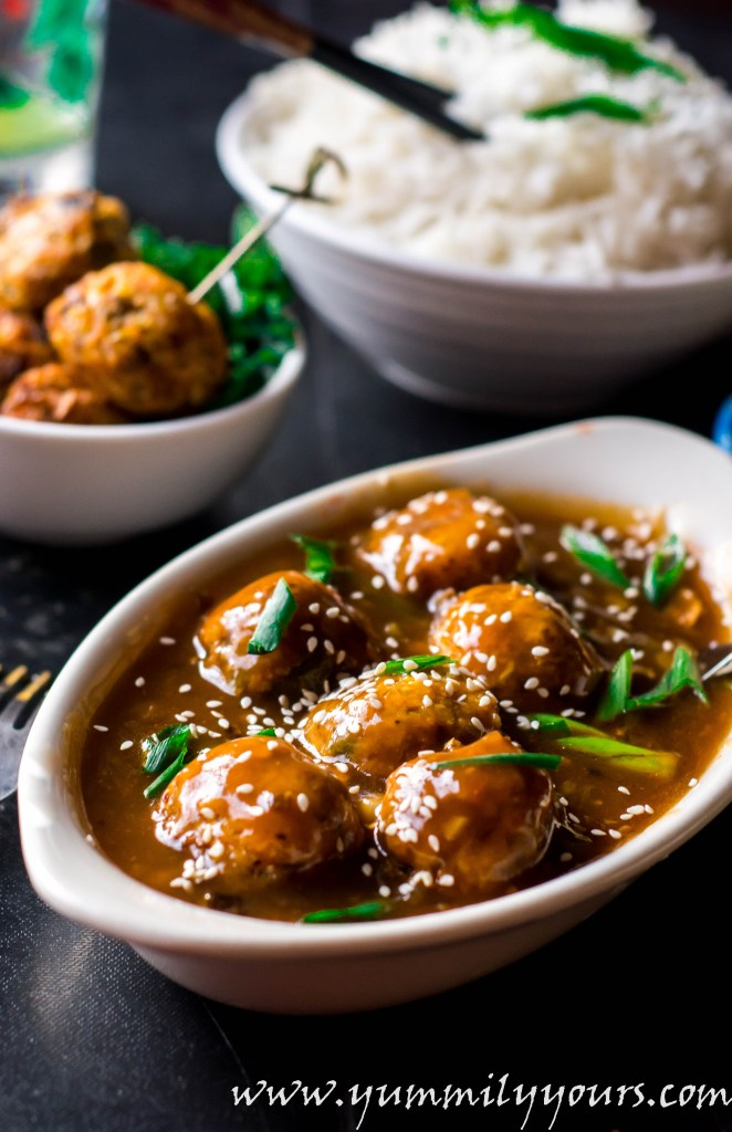 Veg manchurian gravy veggie balls in cantonese sauce yummily yours veg manchurian gravy veggie meatballs dunked in a cantonese sauce a very popular indo forumfinder Gallery