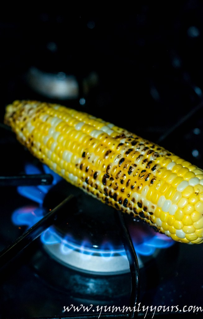 Bhutta, spicy stovetop grilled corn