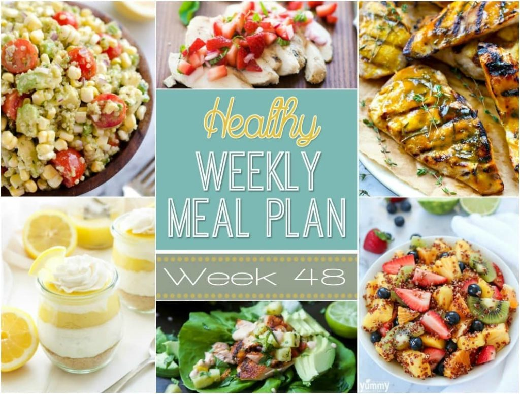 Plan Snack Cuisine Healthy Weekly Meal Plan 48 Yummy Healthy Easy