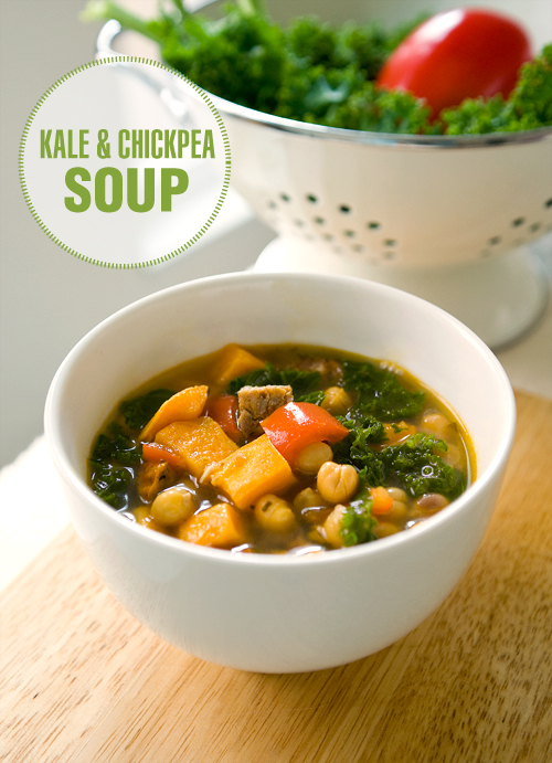 Kale and Chickpea Soup - Yummy Workshop