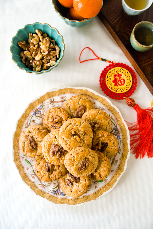 Browned Butter Chinese Walnut Cookies