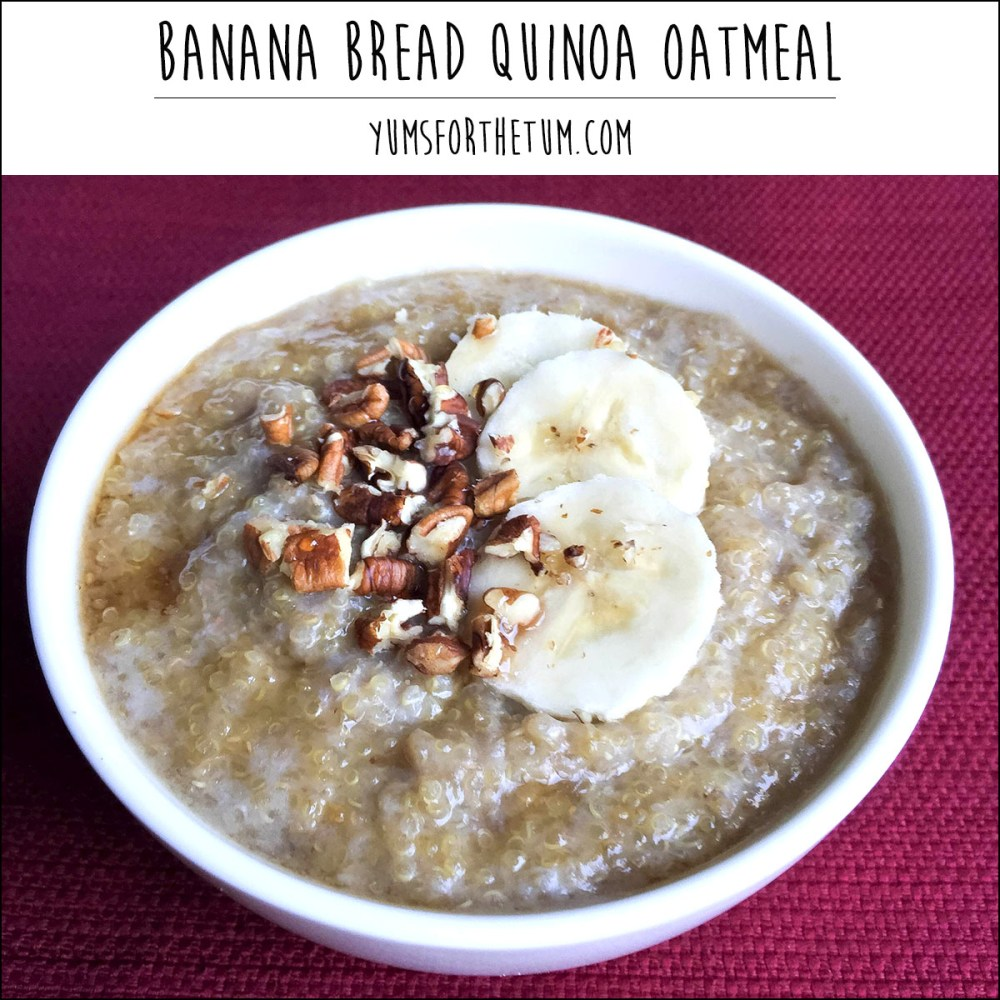banana Bread Quinoa Oatmeal
