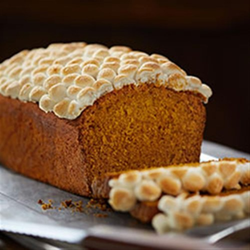 Paleo Pumpkin Spice Bread with Toasted Marshmallows
