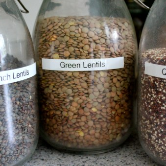 "I call my brown lentils ""green"" - sorry for the confusion"