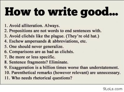 How-to-write-good