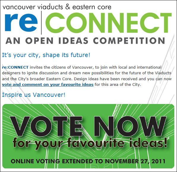 re connect vote Vote for re:Visualized Versions of Vancouvers Viaducts