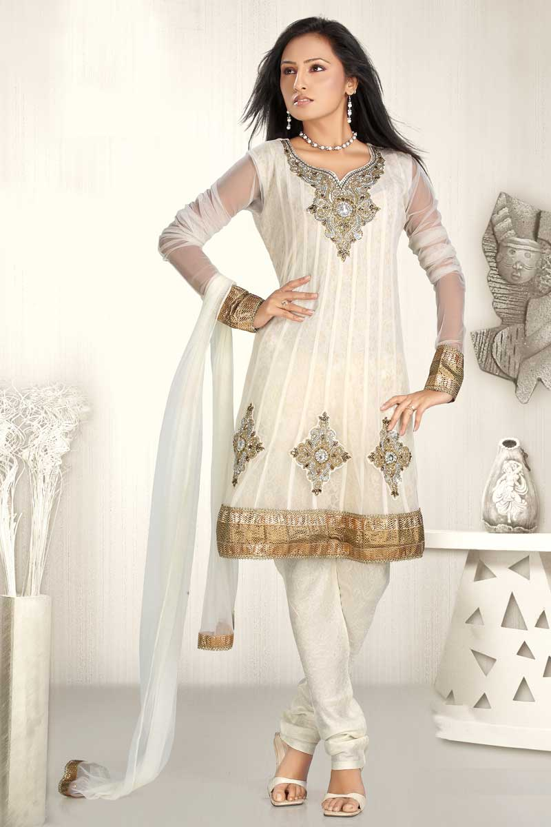 Stylish Hair Style Video White Salwar Suits Designs Latest Charming Dresses