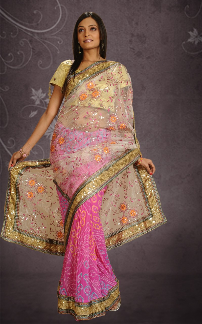 Bad Designer Beautiful Bandhani Saree Dress For Wedding - Yusrablog.com