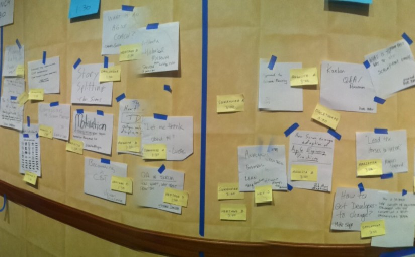 Experiences for a Kanban trainer in a Scrum Gathering