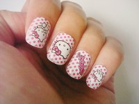 15 pretty Hello Kitty nail designs - yve-style.com
