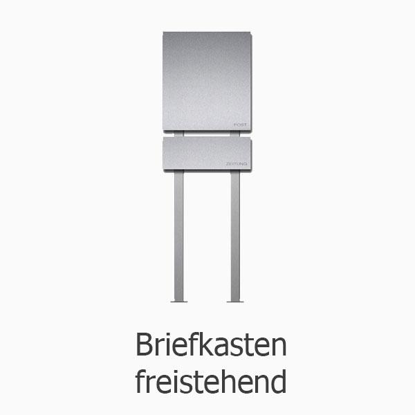 Design Briefkasten Edelstahl Freistehend | Allux 600 ...