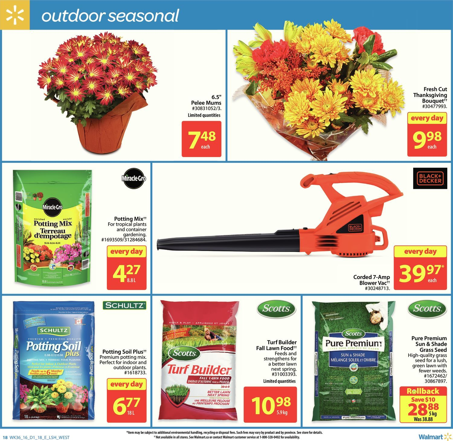 Plante D'intérieur Walmart Walmart Weekly Flyer Weekly Give Thanks Sep 29 Oct 5