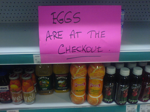 eggs at the checkout