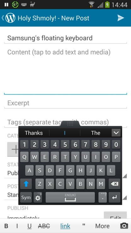 Floating Samsung Keyboard