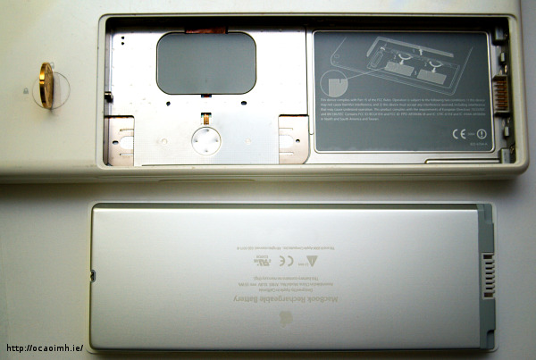 macbook coin open battery compartment