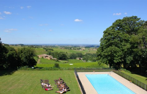 Contiki Chateau Pool Beaujolais France via ZaagiTravel.com