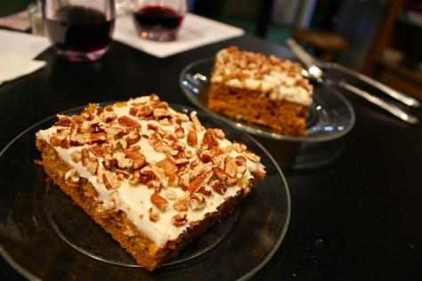 Pumpkin Pecan Bar with Cream Cheese Vanilla Bean Frosting at theVillage Kitchen Shoppe in Glendora, California via ZaagiTravel.com