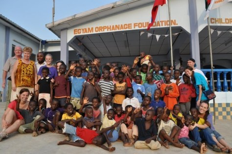 Children at the Egyam Orphanage in Ghana, West Africa