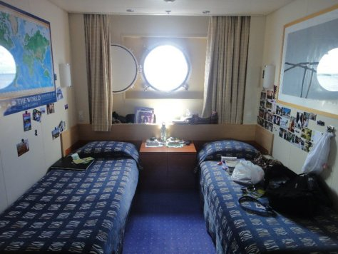 A Deck 2 Outside Cabin on the MV Explorer Cruise Ship from Semester at Sea Study Abroad via ZaagiTravel.com