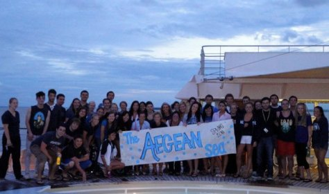 The Aegean Sea at the Spring 2011 Sea Olympics of Semester at Sea via ZaagiTravel.com