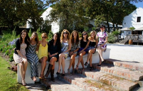 Part of Bonnie Fletcher's Extended Family on the Spring 2011 Semester at Sea voyage in Stellenbosch, South Africa via ZaagiTravel.com