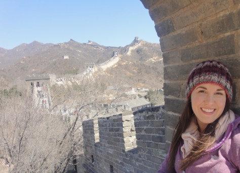 Alexa Rae Johnson on the Great Wall of China during the Spring 2011 Semester at Sea voyage via ZaagiTravel.com