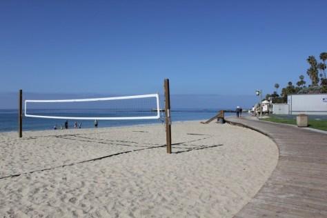 View of Laguna Beach boardwalk, California via ZaagiTravel.com