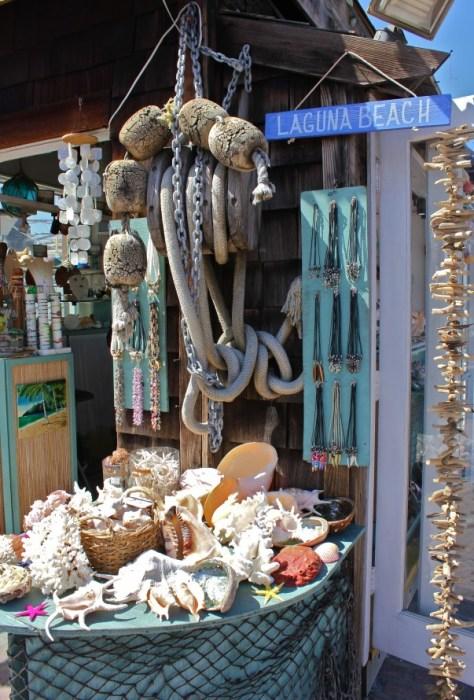 Rudi's Seashell shop in the Laguna Village in Laguna Beach, Orange County, California via ZaagiTravel.com