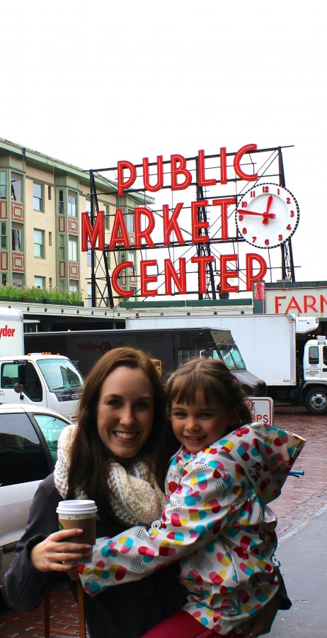 Main entrance sign at Pike Place Market in Seattle, Washington, United States via ZaagiTravel.com