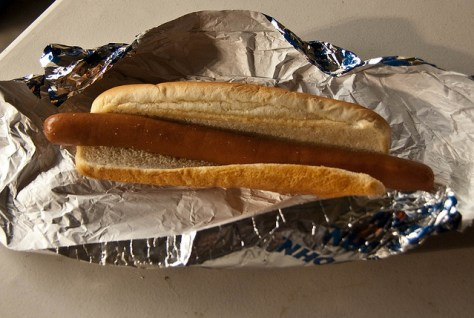 Dodger hot dog at the Dodgers Baseball Stadium in Los Angeles, California via ZaagiTravel.com