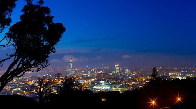 Auckland, New Zealand from the summit of Mt Eden taken by Harrison Gulliver