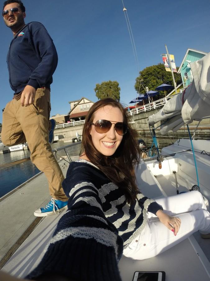 sailing sunglasses g9nm  Sailing at Sunset in Long Beach, California