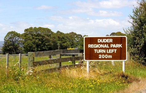 Entrance to Duder Regional Park in New Zealand via ZaagiTravel.com